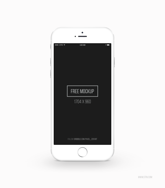 White iPhone 6 PSD Mockup Template