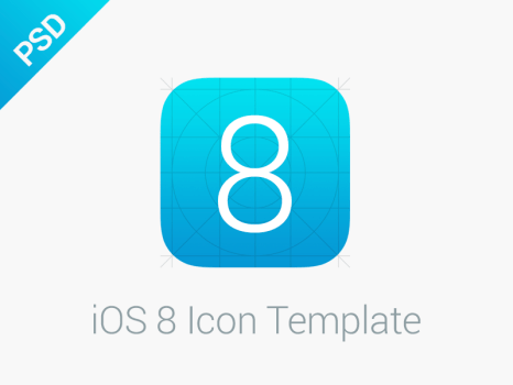iOS 8 Icon Template For iPhone iPad