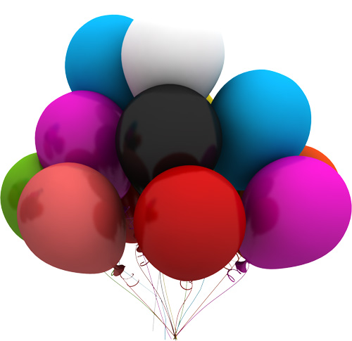 Balloons PSD Free Download