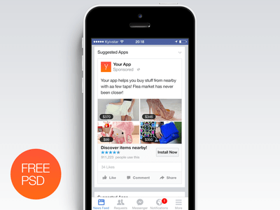 Facebook Ad Free PSD