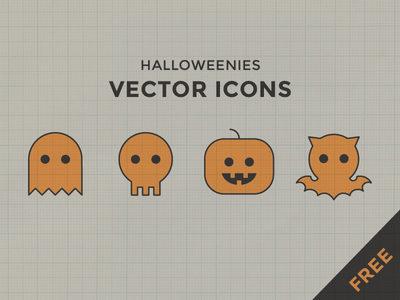 Halloweenies Vector Icons