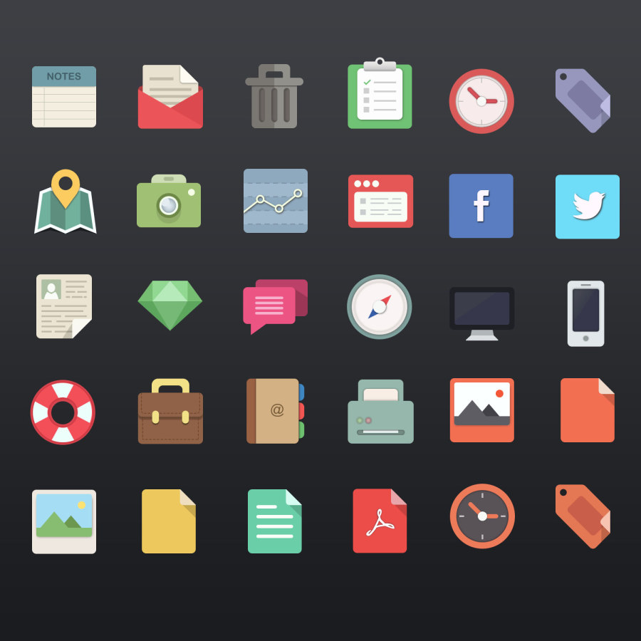 A Set of Free Icons