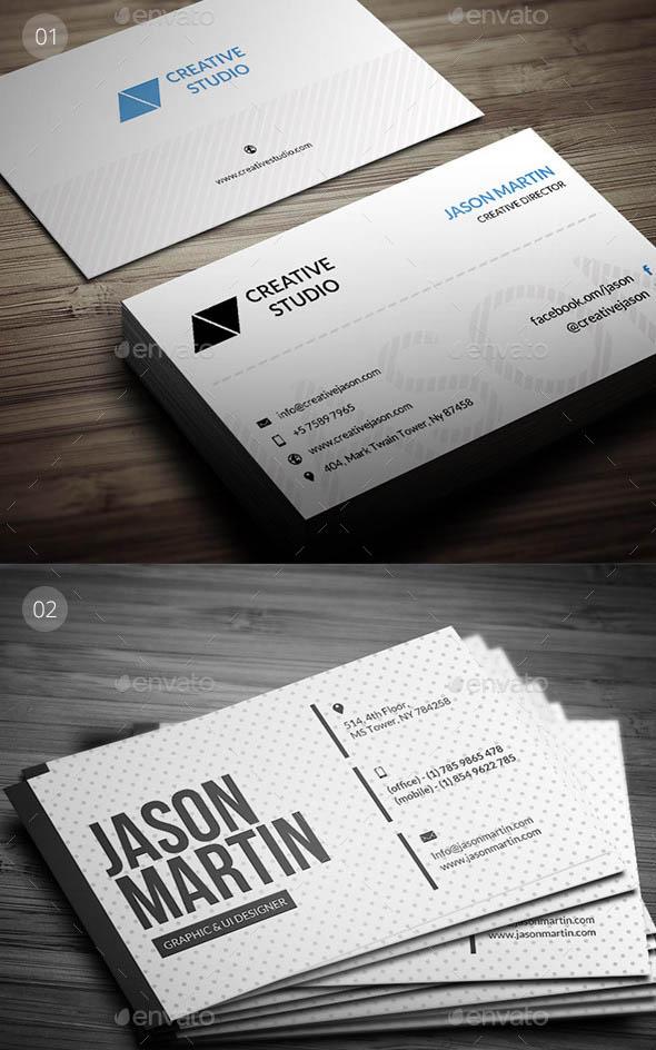 Clean Business Card Bundle PSD