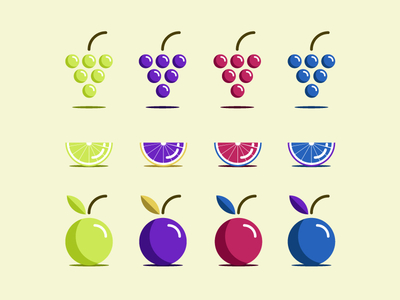 Free Colorful Fruit Vector Icons