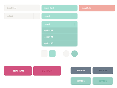 Free UI PSD Buttons And Form Elements