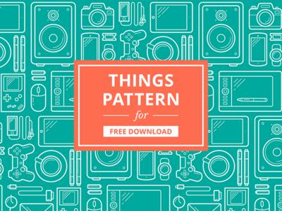 Free Vector Things Pattern