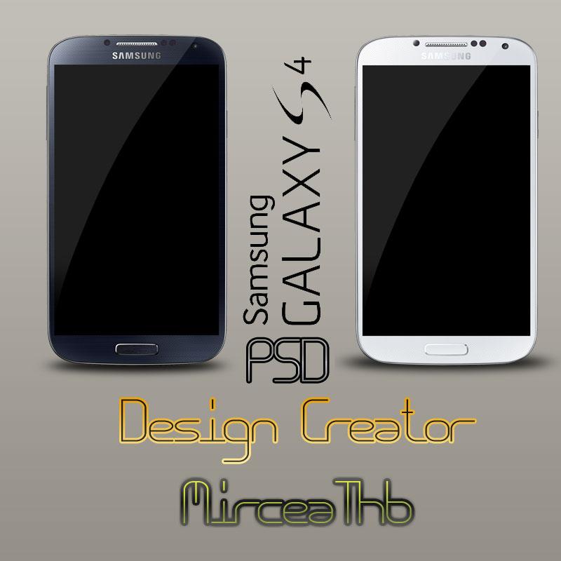 Samsung Galaxy S4 Black and White PSD