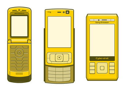 Vector Older Phones