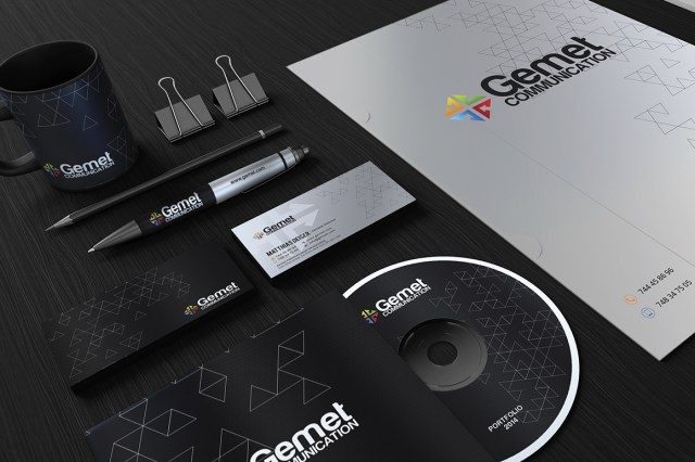 free corporate identity psd template