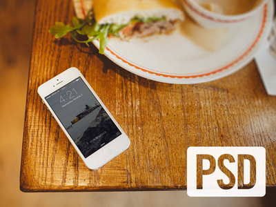 iPhone 5s White Mockup PSD Template
