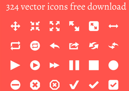 324 vector icons for free download