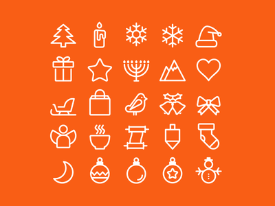 A small set of icons for the holidays