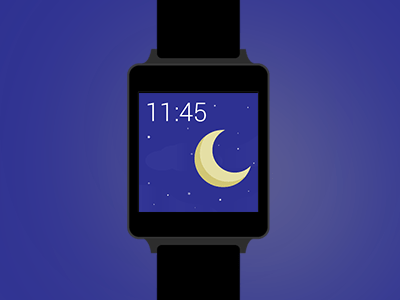Flat LG G Watch Mockup PSD Android Wear