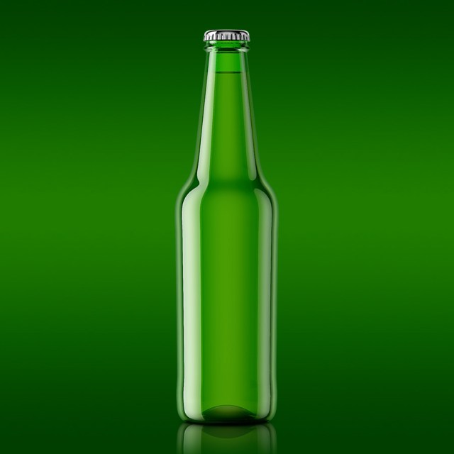 Free Beer Bottle Mockup PSD Template