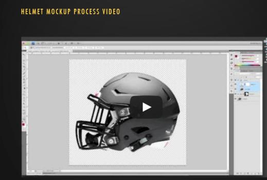 Free Helmet Mockup PSD Template (PSD & Video)