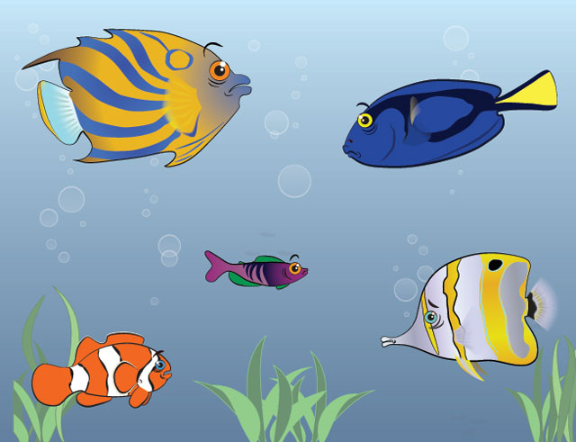 Free Vector Tropical Fish