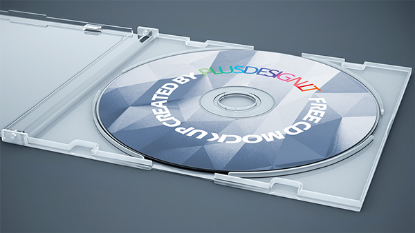 Freebie CD cover Mock-up PSD Template