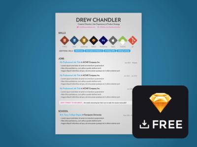 Freebie Sketch Resume Template