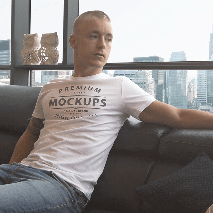 High Quality T-shirt Mockup PSD Template