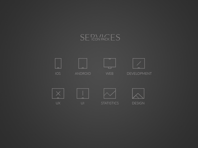 Minimal Services Icons -Free PSD