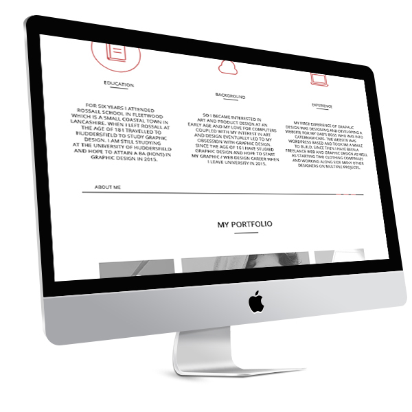 One Page Responsive Portfolio Website Template