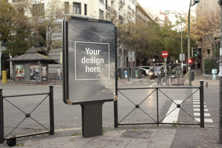 Outdoor Advertising PSD Mockup