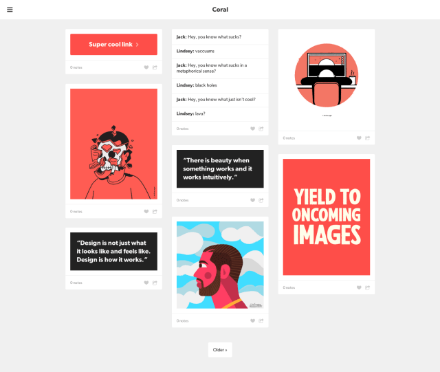 Responsive Grid Tumblr Theme