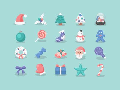 Vector Christmas Icons 2015