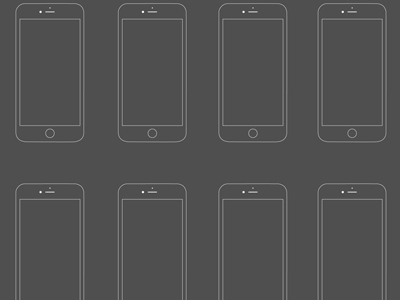iPhone 6 Wireframe Template PSD