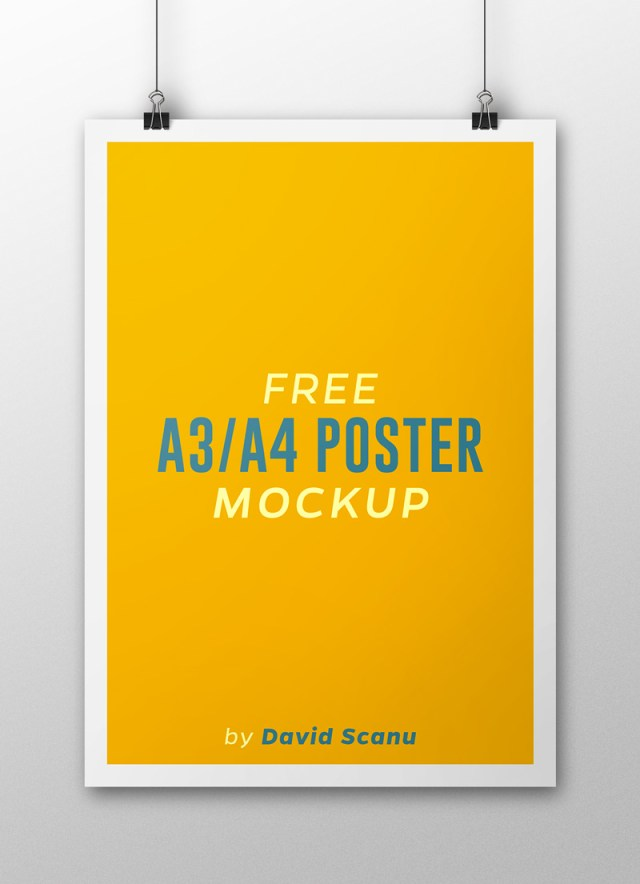 A3  A4 Flyer Poster Mock Up PSD Template 01