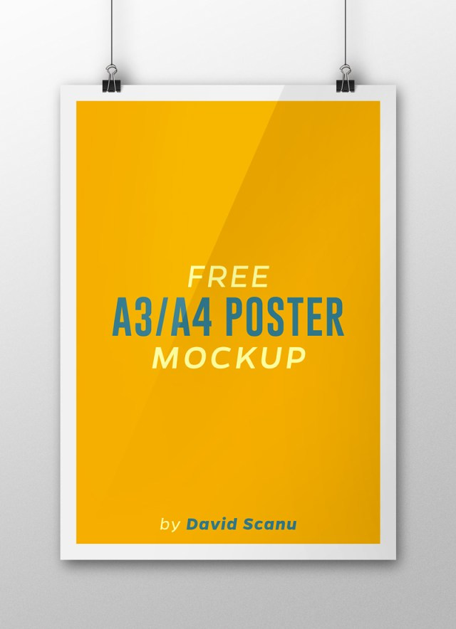 A3  A4 Flyer Poster Mock Up PSD Template 05.