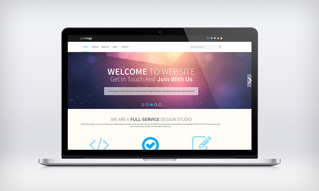Creative One Page portfolio PSD web template