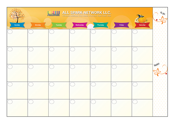 Free Schedule-taking Calendar Template Vector AI