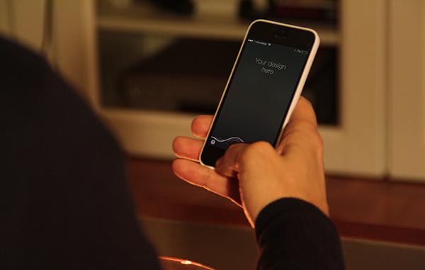 Free iPhone 5C PSD Mockup