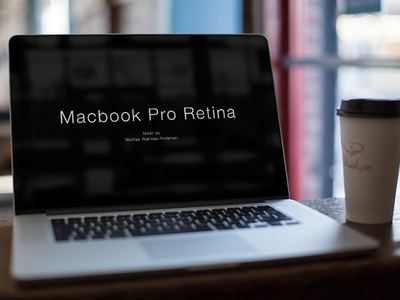 High Resolution Macbook Pro Mockup PSD Download