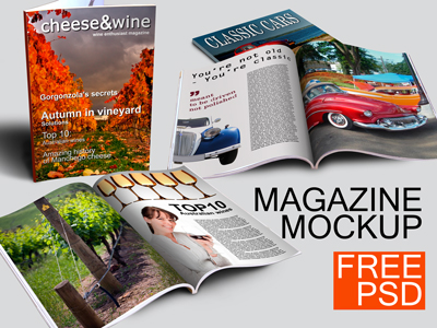 Magazine Mockup PSD Template Free Download