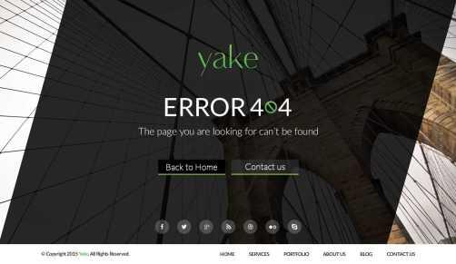 Yake 404 Error Page UI (2 Theme) PSD Free