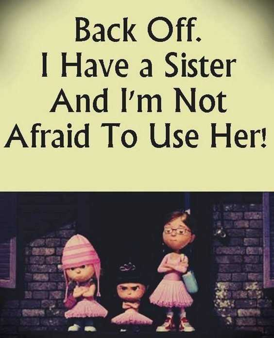 28 Funny Sister Quotes To Laugh Challenge 9
