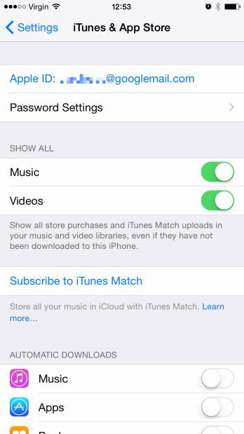 iOS 8.3 ตั้งค่าโหลดแอปฟรีโดยไม่ต้องใส่ Password