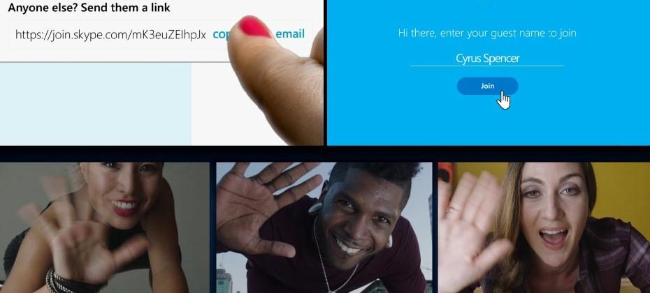ส่ง Link ชวนแชท Skype ได้แล้ว