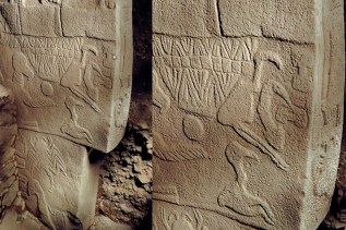 Gobekli Tepe decorated columns