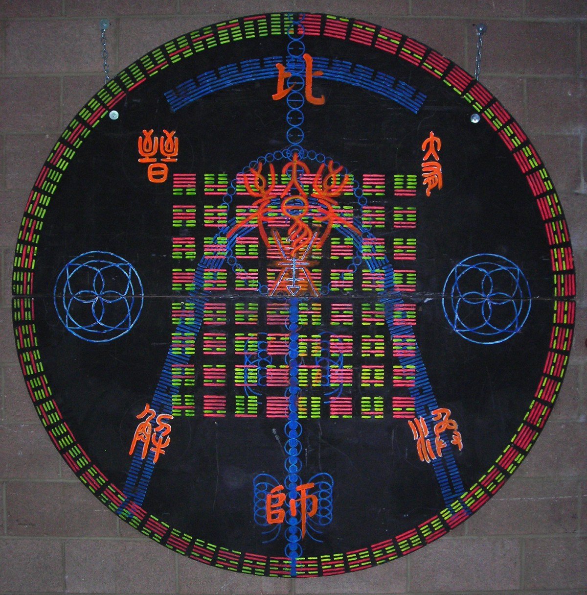 Talismanic Board Used by Danny Carey of Tool