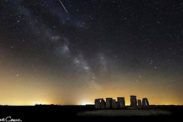 Shooting Star Over Stonehenge