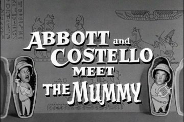 Abbott Costello Mummy Curse Spinning Statue Egyptian Manchester Museum Neb-Sanu