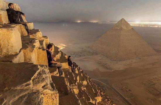 Spectacular View from the Great Pyramid of Giza