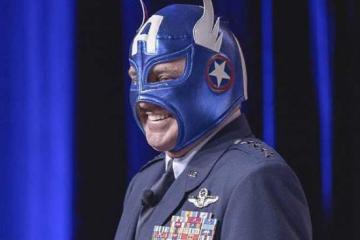 Air Force General Dons Captain America Mask