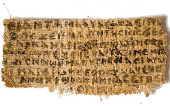 'Jesus wife' papyrus