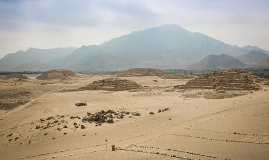 Pyramids of Caral. Image by Michael Turtle