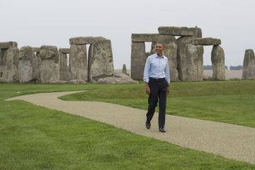 Obama Stonehenge Illuminati