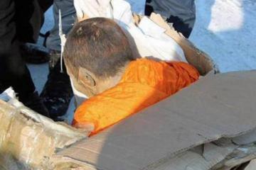 Mummified meditating Mongolian monk